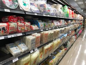 shelves of good at Blue Sky Supermarket