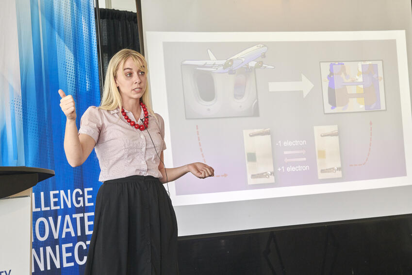Nadia Laschuk during her presentation