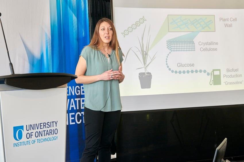 Elysabeth Reavell-Roy during her presentation
