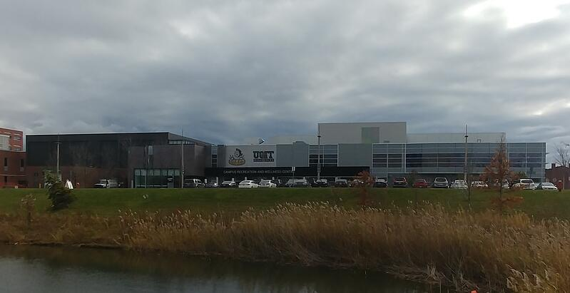 Outside photo of the Campus Recreation and Wellness Centre