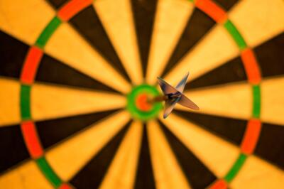 bullseye on dartboard