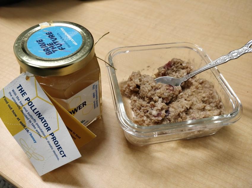 Ontario Tech honey with oatmeal