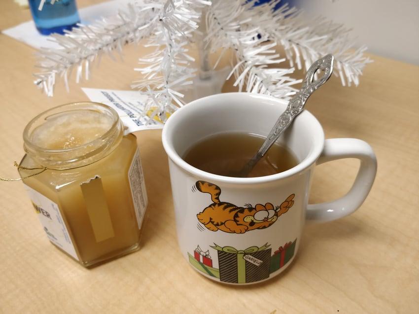 Ontario Tech honey with green tea