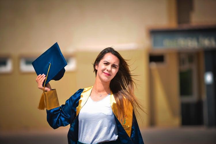 girl graduating
