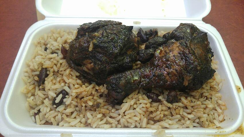 Jerk Chicken and rice