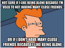 a meme about being alone